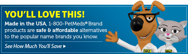 Save more with the 1-800-PetMeds® brand