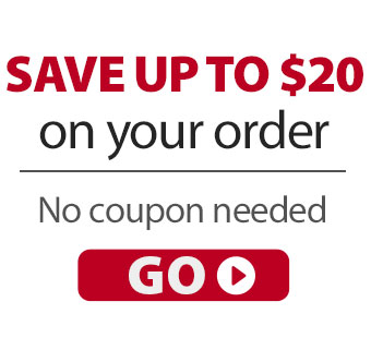 Save up to $20 on your next order