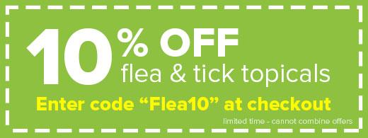10% Off Flea topicals - Flea10