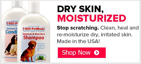 Dry skin, moisturized