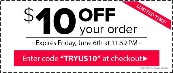 Use code TRYUS10