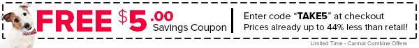 Use your $5.00 savings coupon today