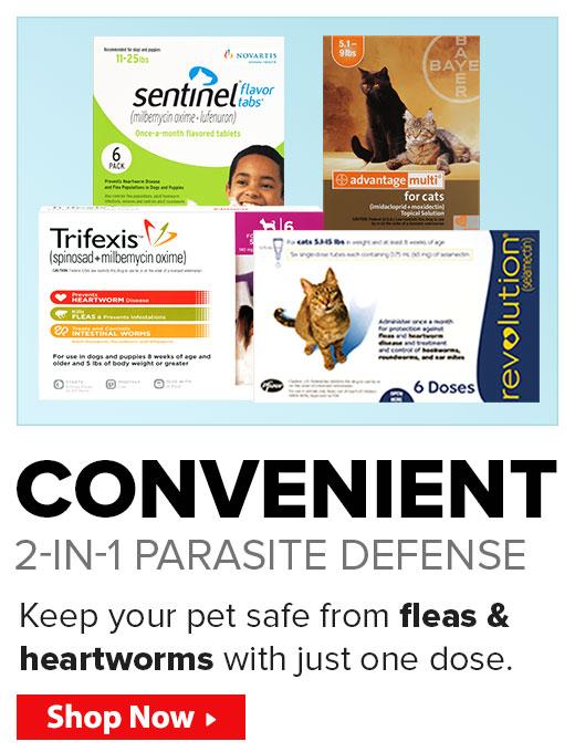 Convenient 2-in-1 Parasite Defense