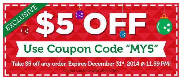 Exclusive! Take $5 OFF any order.
