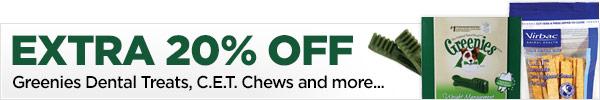 Extra 20% OFF on Greenies Dental Chews & Treats