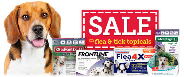 Topical Flea & Tick Treatments on SALE