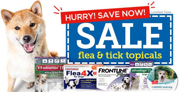 Topical Flea & Tick Treatments on SALE