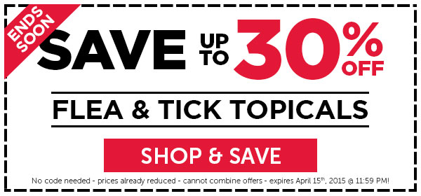 HURRY! Sale on flea & tick topicals ends soon!