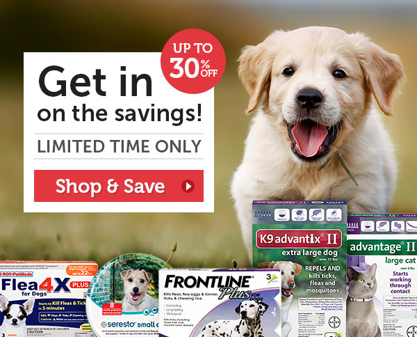 Get in on the savings! Flea & Tick Sale Extended