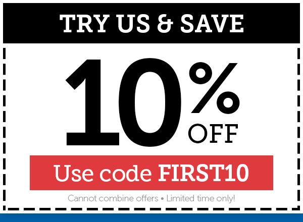 Try us & Save 10% OFF