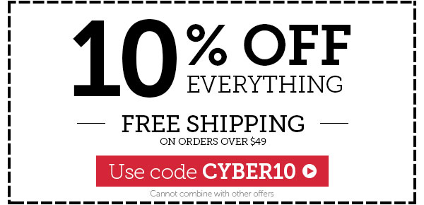 10% OFF Everything + FREE Shipping over $49