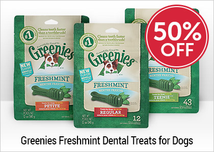 50% OFF - Greenies Freshmint Dental Treats for Dogs