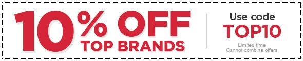 10% OFF Top Brands - Use code: TOP10