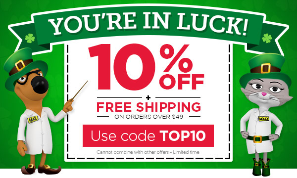 YOU'RE IN LUCK! 10% OFF + FREE Shipping on orders $49+