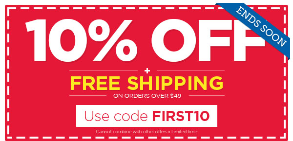 Use your 10% OFF coupon before it expires!