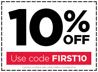 10% OFF all orders!