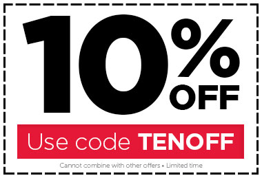 Use code TENOFF for 10% OFF!