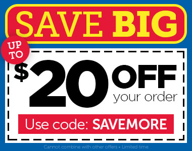 Save BIG! Up to $20 OFF, use code SAVEMORE