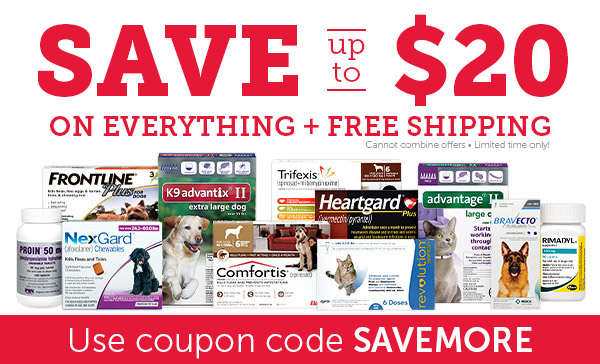 SAVE up to $20 on EVERYTHING + FREE Shipping