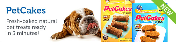 PetCakes - Fresh-baked natural pet treats ready in 3 minutes!