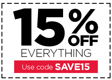 Use code SAVE15 to save 15% OFF