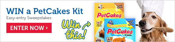 Enter for a chance to WIN a PetCakes treat kit