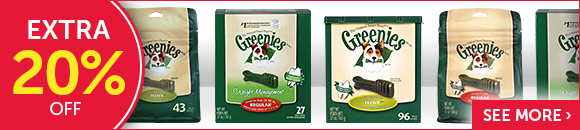 Extra 20% OFF on select Greenies
