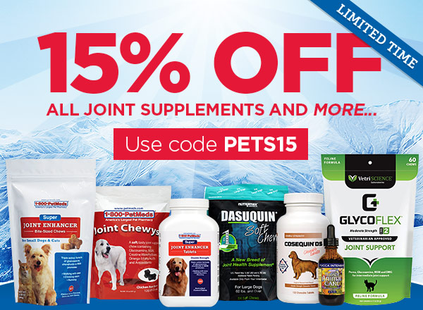 Save 15% OFF all joint supplements and more...