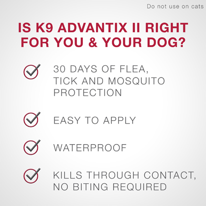 K9 Advantix II 6pk Blue Dog Over 55 lbs Thumbnail Image 2