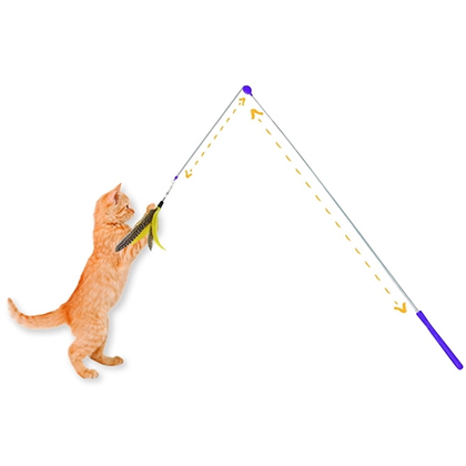 Jackson Galaxy Telescoping Wand Cat Toy Air Prey Wand
