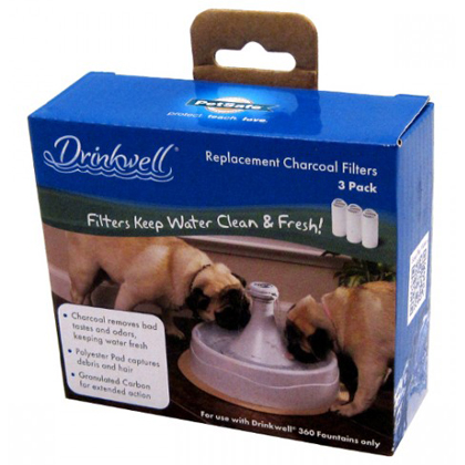 Drinkwell 360 Pet Fountain Charcoal Replacement Filters 3pk Thumbnail Image 1