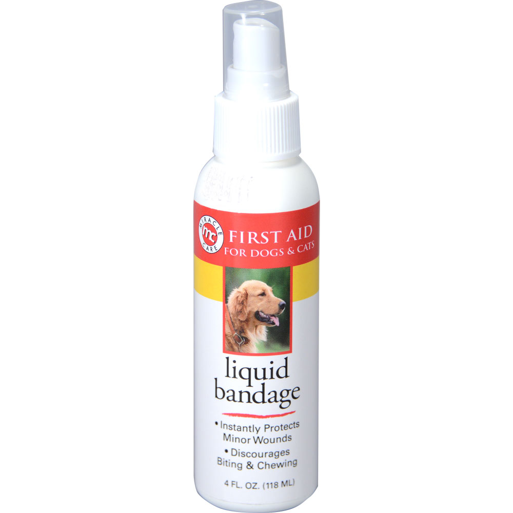 Miracle Care Liquid Bandage Spray for Dogs and Cats 4 oz Thumbnail Image 1