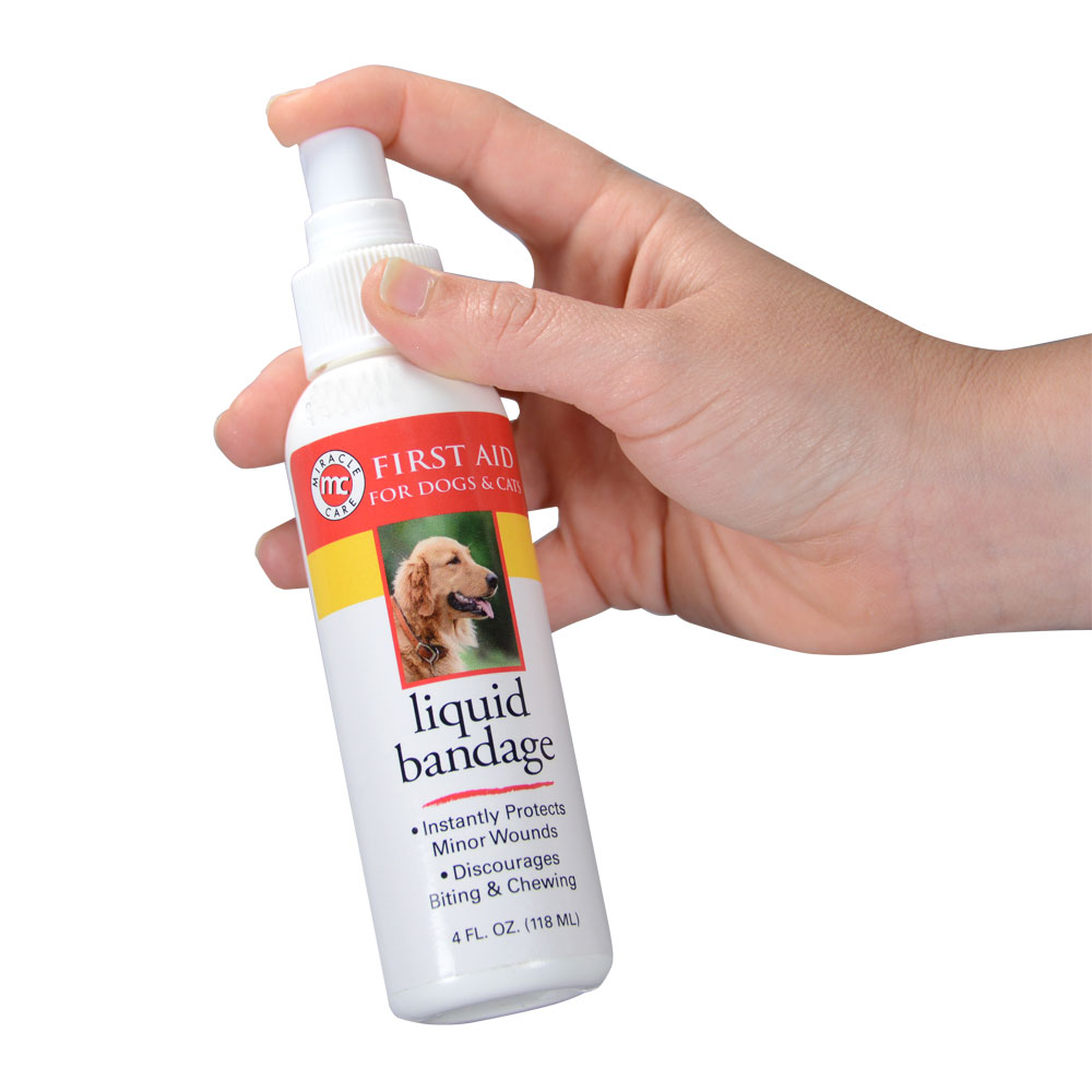 Miracle Care Liquid Bandage Spray for Dogs and Cats 4 oz Thumbnail Image 2