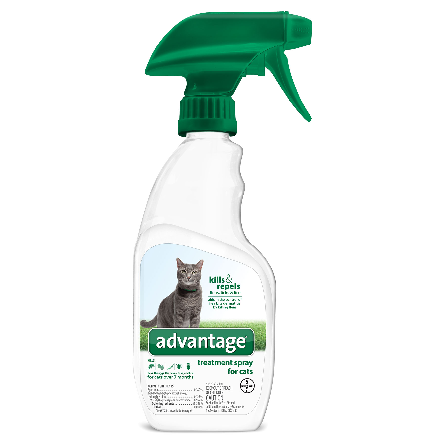 Advantage Treatment Spray for Cats - 12oz Thumbnail Image 2