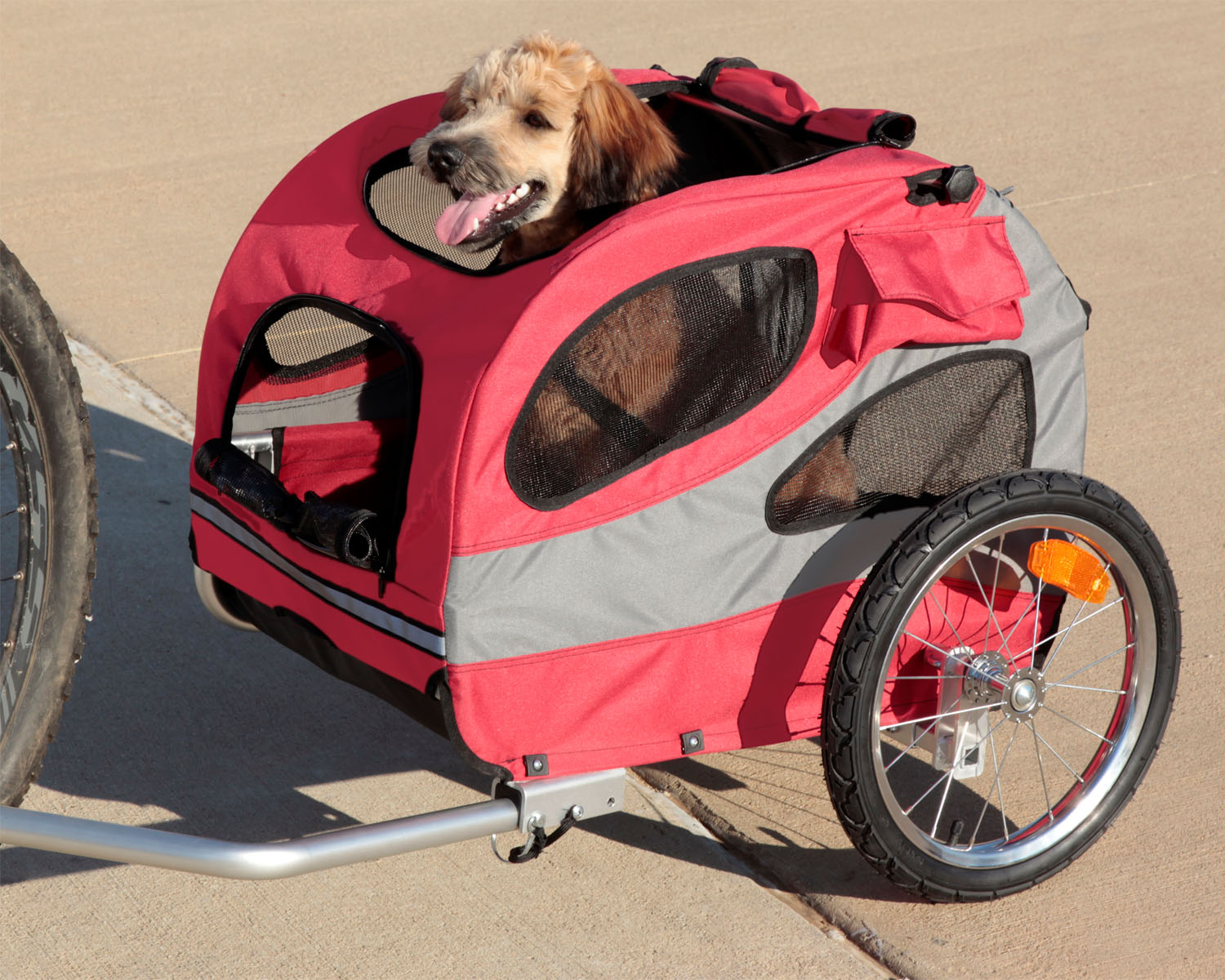 Solvit HoundAbout II Aluminum Pet Bicycle Trailer Medium Thumbnail Image 1