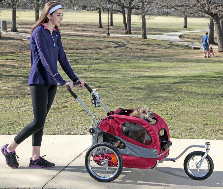 Solvit HoundAbout II Aluminum Pet Bicycle Trailer Stroller ...