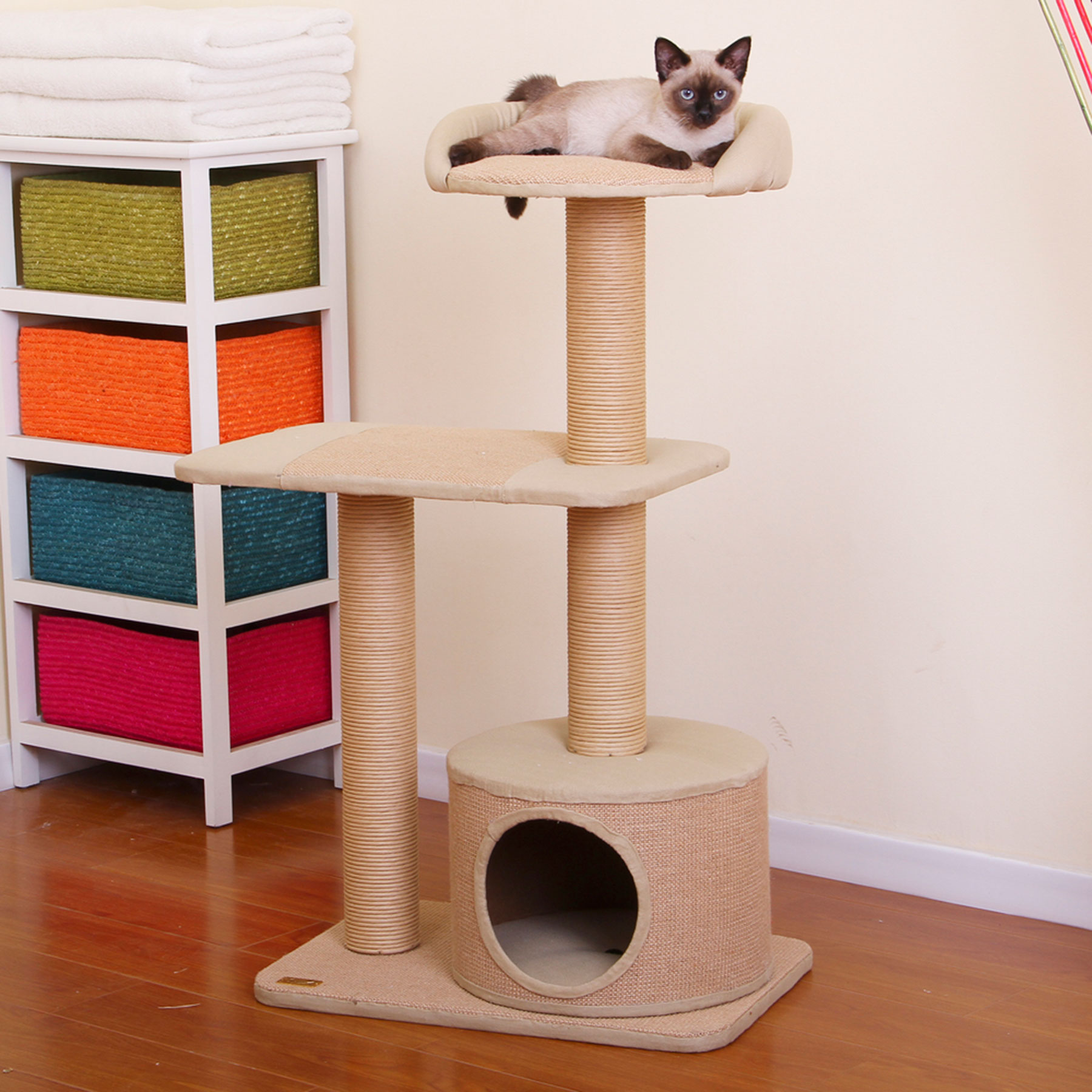 Petpals cat condo cat level condos 1800petmeds for Furniture 123 near me