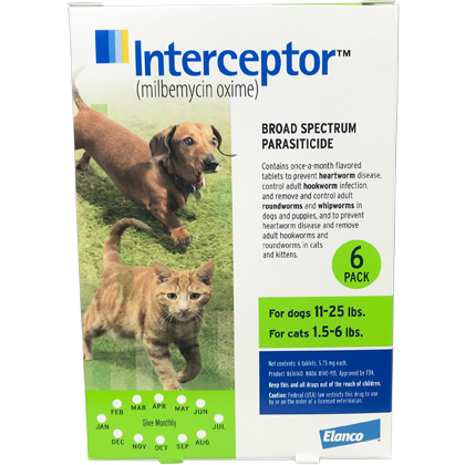 Interceptor 6pk Green Dog 11-25lb
