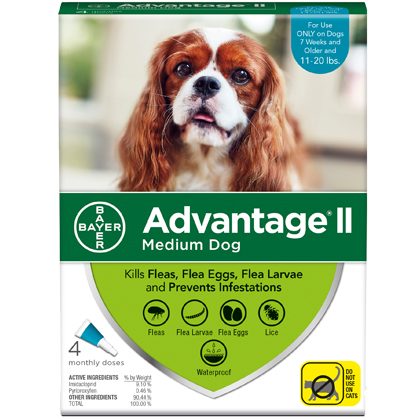 Advantage II 4pk Dog 11-20 lbs by BAYER