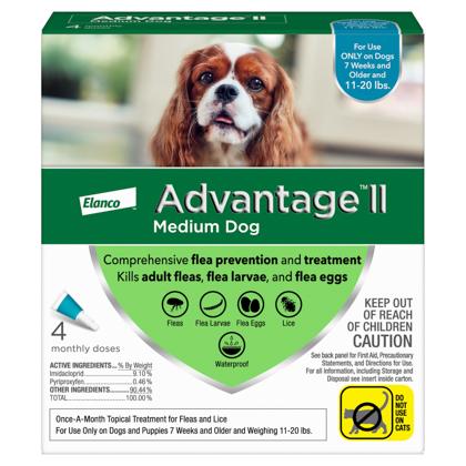 Advantage II 4pk Dog 11-20 lbs