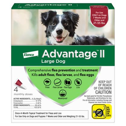 Advantage II 4pk Dog 21-55 lbs