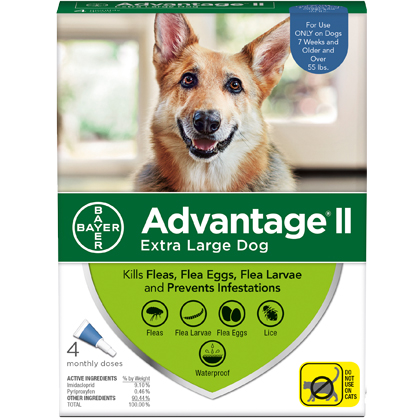 Advantage II 4pk Dog Over 55 lbs by BAYER