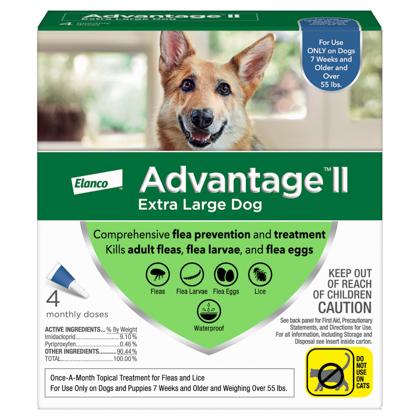 Advantage II 4pk Dog Over 55 lbs