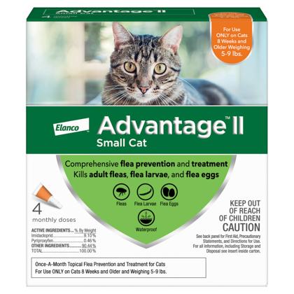 Advantage II 4pk Cat 5-9 lbs