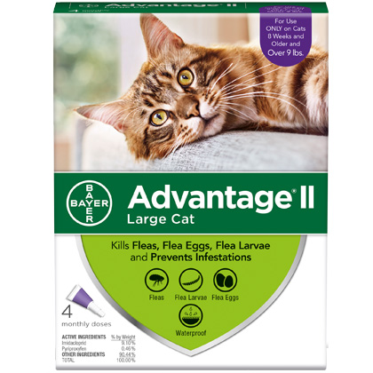 Advantage II 4pk Cat Over 9 lbs by BAYER