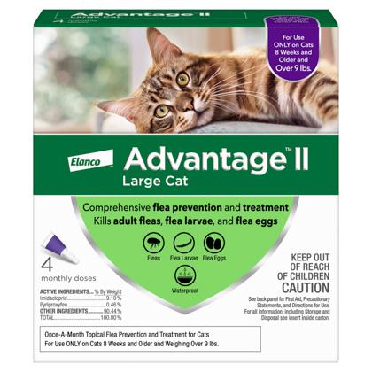 Advantage II 4pk Cat Over 9 lbs
