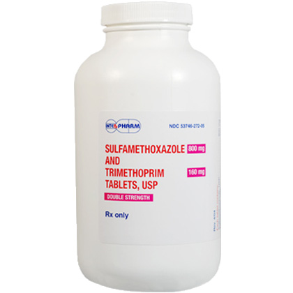 Sulfamethoxazole and Trimethoprim Tablets Double Strength (Click for Larger Image)