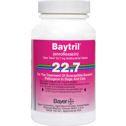 Image of Allergy Relief Medication, Baytril Taste Tabs 22.7 mg (sold per tablet) by BAYER