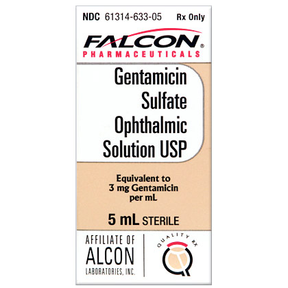 Gentamicin Sulfate Ophthalmic Solution (Click for Larger Image)