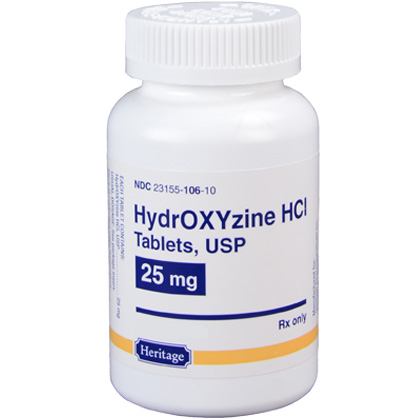 Hydroxyzine HCl 25 mg (sold per tablet)